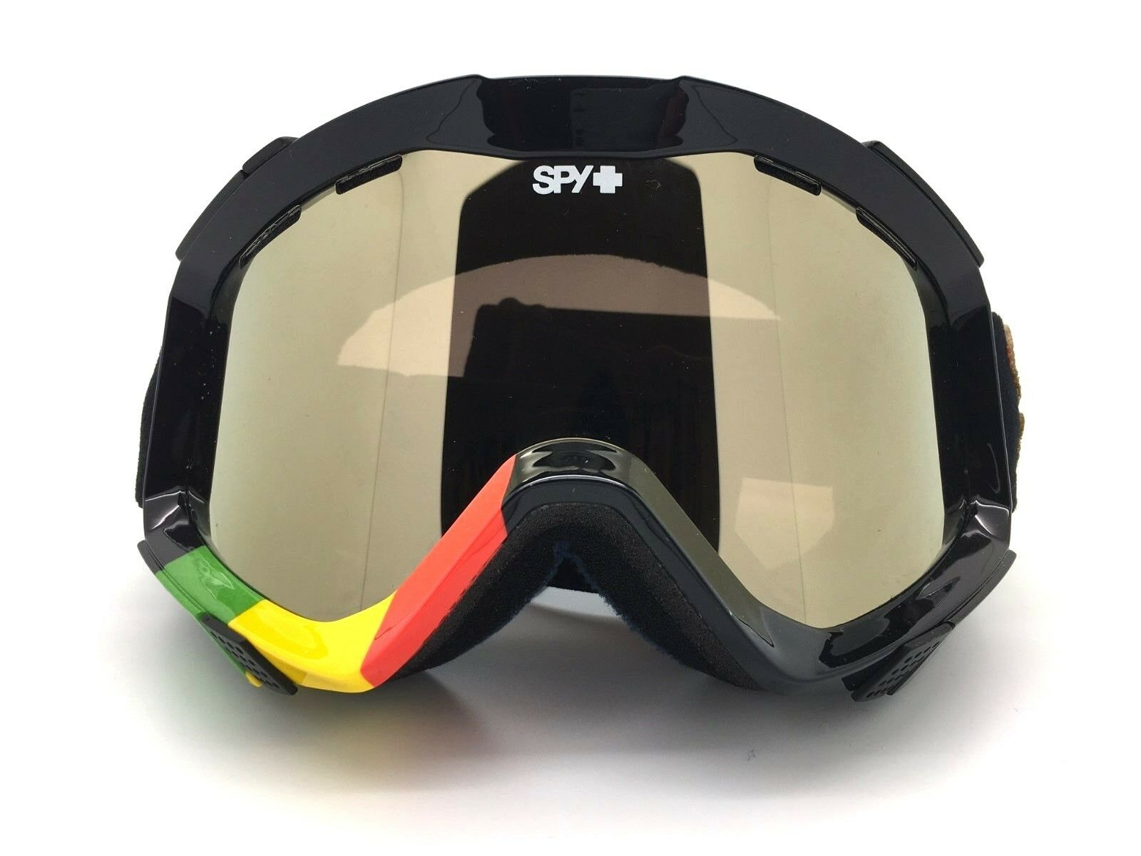 SPY+ Optic ZED Snow Goggle LION Red Yellow Green Frame Bronze-gold Mirror Lens
