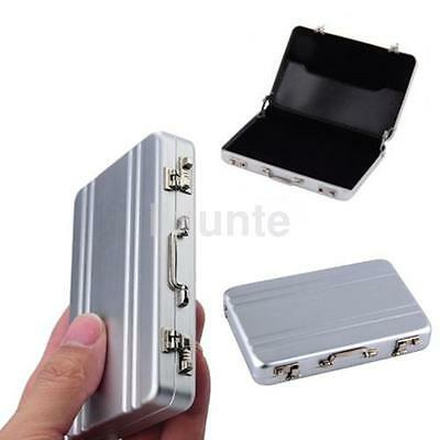 Metal Mini Briefcase Suitcase Business Bank Card Name Card Holder Case Box Y2