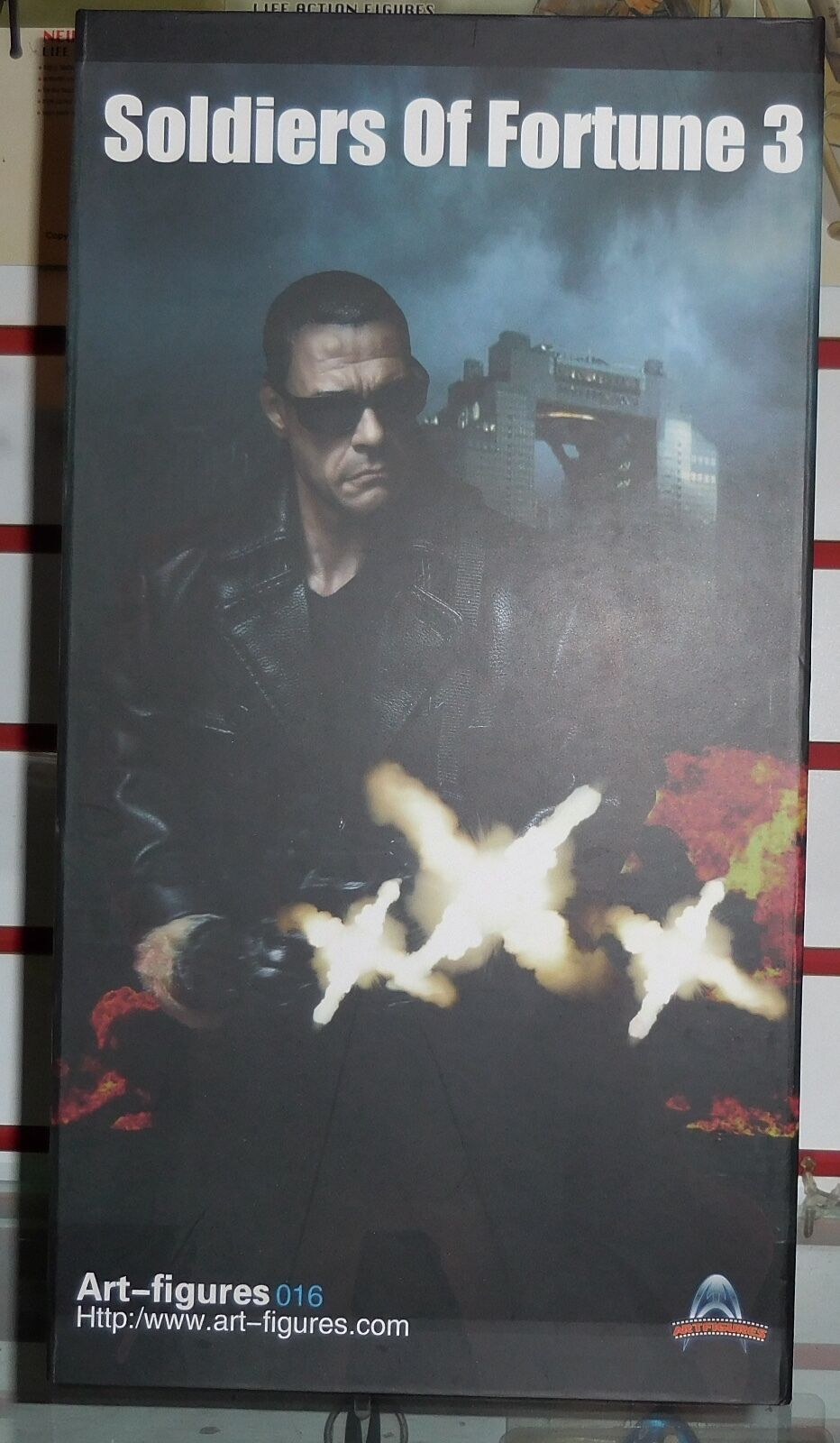 ART FIGURES SOLDIER OF FORTUNE 3 Van Damme BOX FIGURE 1 6 ACTION FIGURE TOYS dam