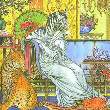 Papel Leopardo Cebra Burlesque Teatro Almuerzo Servilletas Nuevo 20 en paquete 33cm Sq 3 capas