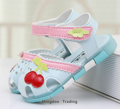 New toddler girls sandals little Kids Princess beach shoes candy size 5-11.5