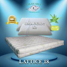 Materasso lattice aloe vera Matrimoniale 160x190 + 2 guanciali OMAGGIO!!!