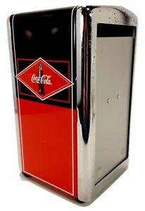 Vintage-Coca-Cola-Napkin-Dispenser-Red-amp-Black-Diner-Style-Retro-Napkin-Holder