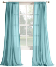"*No. 918 Henderson Millennial Rod-Pocket  Curtain Window Panel 50""x95"" AQUA NEW"