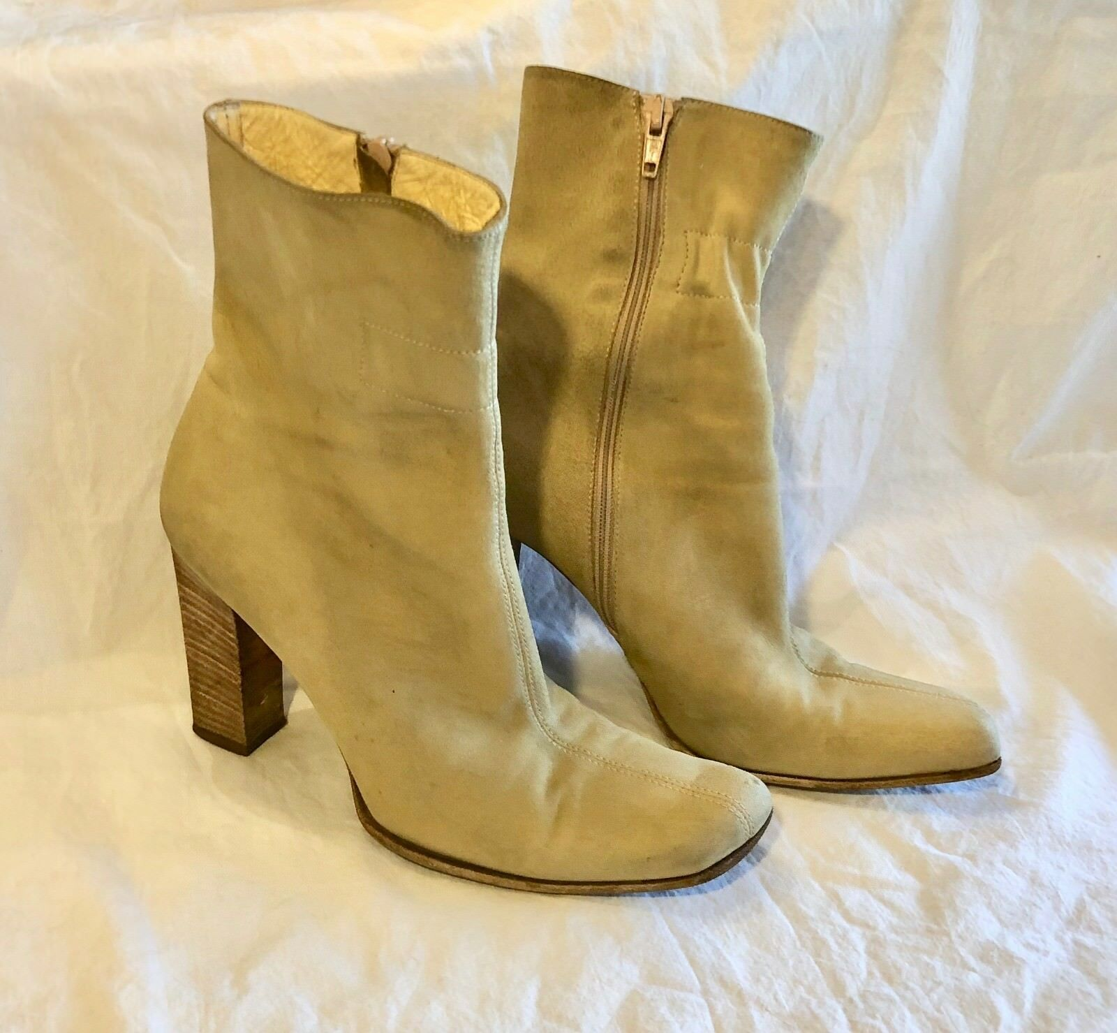 Kenneth Cole Ankle Stiefel Tan Suede Zipper Gre 36 US 6     AR0497