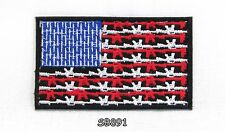 USA FLAG OF I PLEAD Iron on Small Badge Patch for Biker Vest SB891