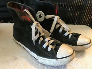 7037fd18e0d82c Image is loading Youth-Converse-Chuck-Taylor-Classic-Black-Hi-Top-