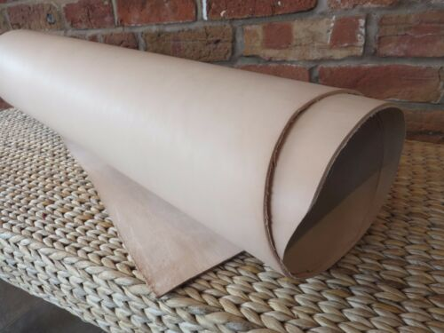 "30 x 90 12/"" X 36/"" NATURAL VEG TAN CRAFT LEATHER HIDE- SELECT YOUR THICKNESS cm"