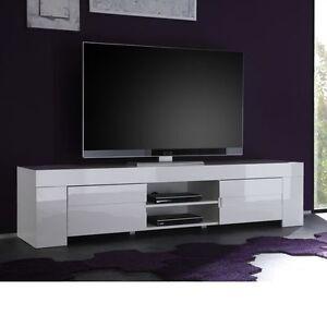 Porta Tv Eos Grande Bianco Mobile sala soggiorno salotto cucina | eBay