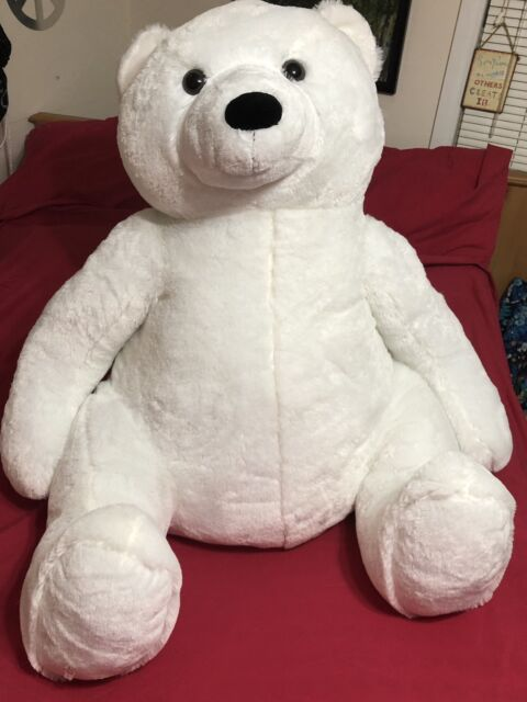 Giant Polar Bear Plush Jumbo Stuffed Animal White Teddy Christmas