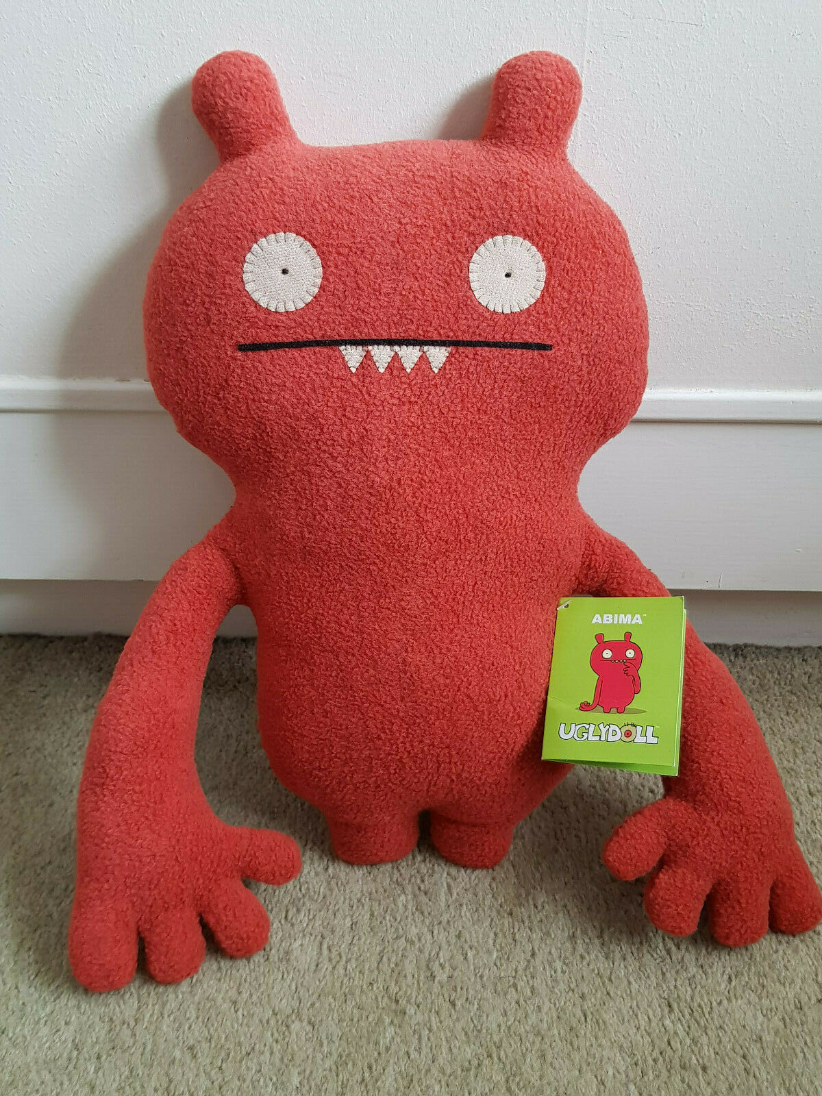 Very Rare UGLY DOLL ABIMA Classic 2003 Plush Doll With With Tags EXCELLENT CONDITION
