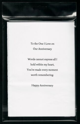 PRE-CUT A5 PK OF 10 OUR ANNIVERSARY CARD INSERTS A6 5X5 100GSM 6X6 7X5