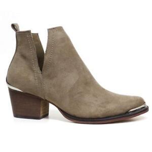9394eee9e20 Details about Ladies Womens Ankle Block Heels Cut Out Riding Cowboy Biker  Chelsea Boots Shoes
