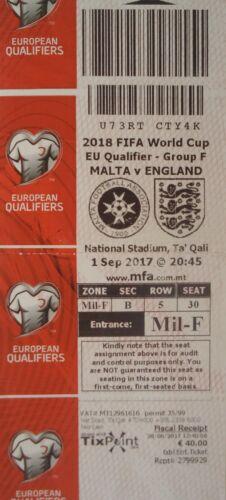 Sammler TICKET 1.9.2017 Malta England