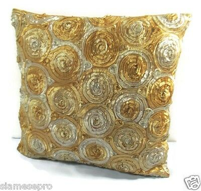 Thai Silk Pillow Covers Cushion Couch Throw Pillow Covers Cases 16x16 PCB001