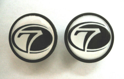 Seven Cycles Bike frame logo end plugs Seven Cycles handlebar bike caps Seven