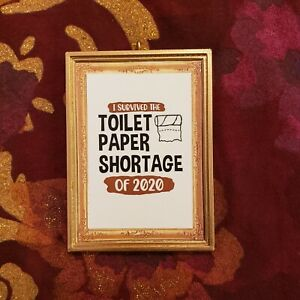 2020 Survival Kit Toilet Paper Pandemic Christmas Ornament//Magnet//DHM//Wall 19