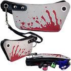 New Gothic Red Blood Splatter Mini Cleaver Clutch Make-Up Bag Purse Halloween