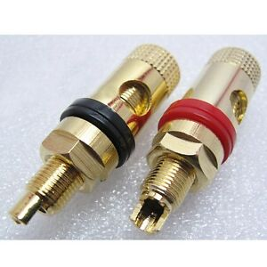 A-pair-Banana-connector-socket-Goldplated-power-supply-terminal-copper-for-audio