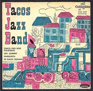 JAZZ-TACOS-JAZZ-BAND-Pochette-TRAIN-45T-EP-COLUMBIA-ESRF-1030-OH-JOHNNY