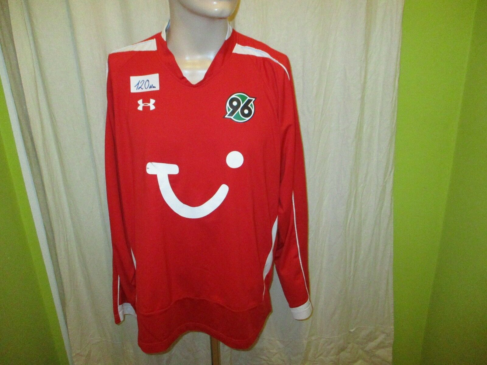 Hannover 96 Under Armour Langarm Junioren Matchworn Matchworn Junioren Trikot 2008/09 + Nr.9 Gr.XL 926c69