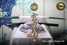 TENKU BLACK HAWK JAPANESE NIHONTO DAMASCUS HAMON SAMURAI KATANA SWORD KENJUTSU