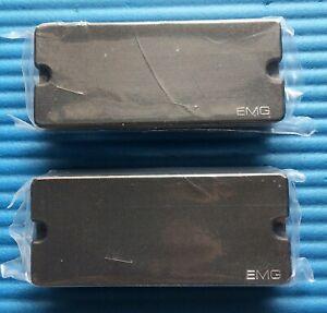 (LAST ONE) EMG 35P + 35J ACTIVE SOAPBAR 4 STRING BASS GUITAR PICKUP SET - BLACK