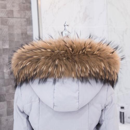70*15 Echt Natur Waschbär Pelzkragen Pelz Fell Echtpelz Raccoon f Jacke Mantel
