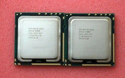 2 CPUs Intel Quad Core Xeon CPU E5540 2.53GHZ//8M//5.86 SLBF6 1 Matched Pair
