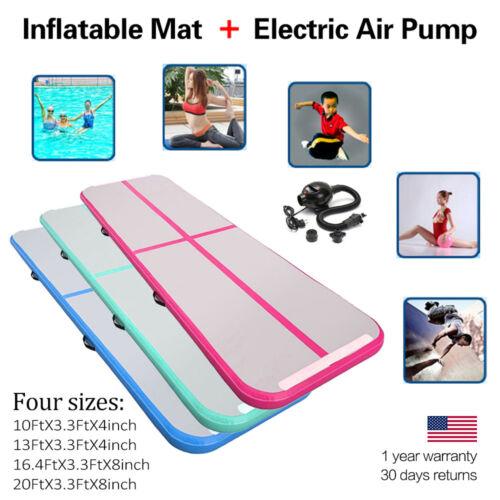 Taekwondo Airtrack Inflatable Air Track Floor Gymnastics Tumbling Mat 4 Size PGS