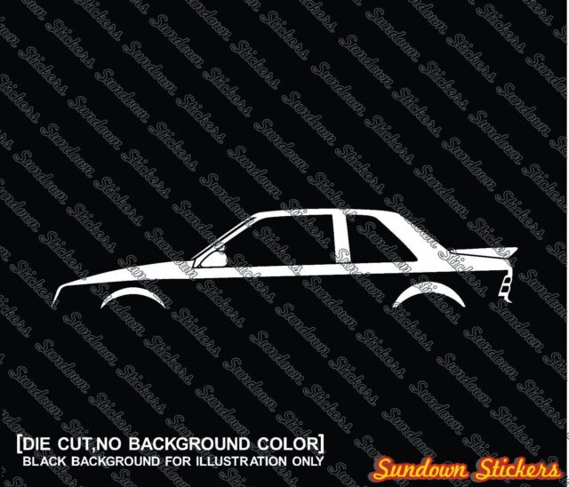 2X Car silhouette stickers - for Shelby CSX ( dodge shadow )