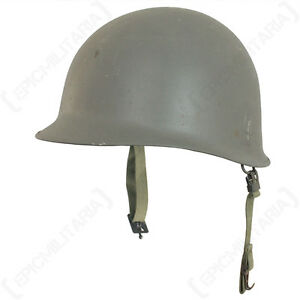 Details about Original Danish M1 Helmet with Liner - Army Surplus Uniform  Hat Steel Combat