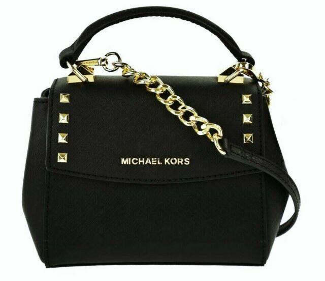 fb878cdcd7d5b2 Michael Kors Leather Karla Mini Convertible Th Crossbody Bag in Black