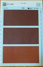 Microscale Decal HO #87-1497 Brick Walls ( Common & Strecher patterns)