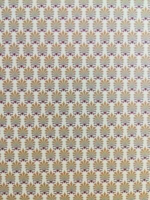 Dollhouse Brodnax Victorian Wallpaper Maroon Pale Yellow Marie Claire 1:12 Scale