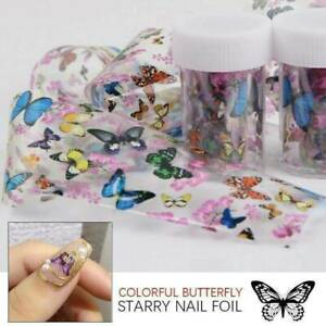 3D-Butterfly-Nail-Foils-Flower-Transfer-Foil-Decal-Nail-Art-Decoration-Tips-UK