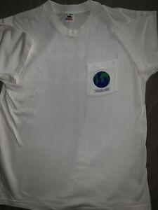 Vintage-90s-WWF-World-Wildlife-Fund-T-Shirt-XL-Selvedge-Pocket-Single-Stitch-EUC