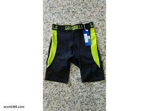 Lonsdale-Ciclista-Fitness-Uomo-Ragazzo-Art-LOUPE17264-BLA-GRE-Black-Green