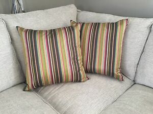 Pottery Barn Striped Pillow Covers 20x20 Ebay