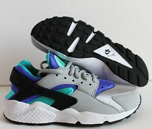NIKE AIR HUARACHE RUN WOLF GREY/ARTISAN TEAL/PERSIAN SZ 5 [634835-008]