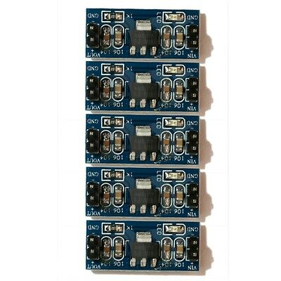 5Pcs DC/DC 4.5V-7V to 3.3V AMS1117-3.3V Power Supply Module Volt Regulator
