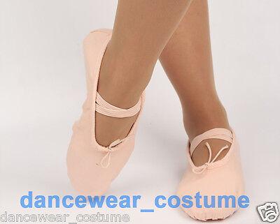 New Adult Women Soft Split-Sole Canvas Ballet Dance Shoes Slippers US 5-8.5 Pink