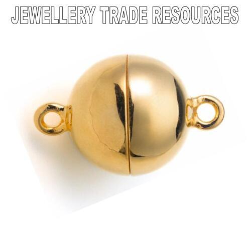 De 15 Mm Plata 925 Oro Placa de cierre magnético capturas Pulsera Collar Perla