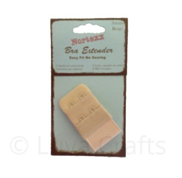 Bra Extender 2 Hook 38mm Wide white No Sewing Needed