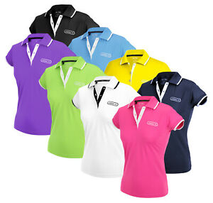 Adidas-Womens-FP-Performance-Patch-Golf-Polo-Shirt-Top-I-Many-Colors