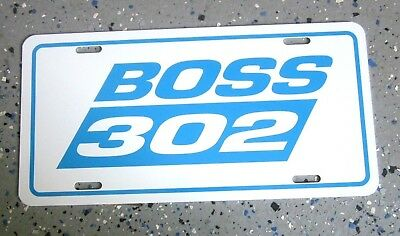FORD BOSS 302 license plate car tag 1969 1970 Mustang 2012 2013 2014 2015 2016