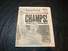1987 Super Bowl XXI newspaper New York Post 1/26/87  NY 39 def Den 20