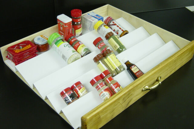Vance 30 X 21 inch Trimmable Universal Spice Drawer Organizer 4W3021SS