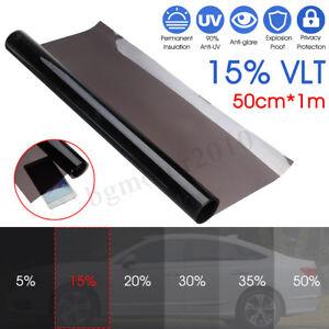 50cmx1m-15-VLT-Film-Teinte-Solaire-Noir-pour-Vitre-Fenetre-Velux-Voiture