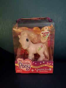 """My Little Pony G3 Sparkle Ponies Brushable Tinsel White Mane """"Desert Rose"""" 2003"""